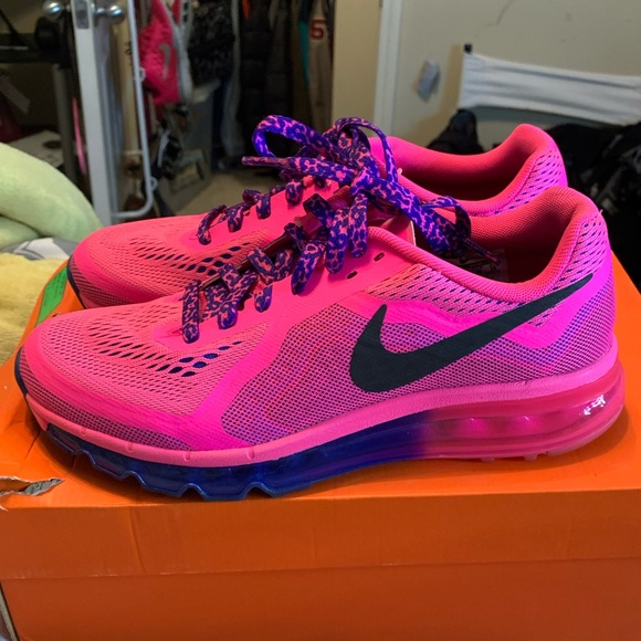 Pink and Blue Nike Air Max 2014 GS